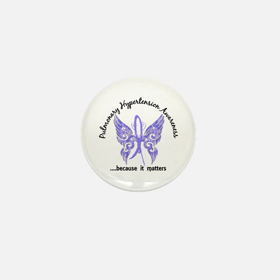 Pulmonary Hypertension Butterfly 6.1 Mini Button