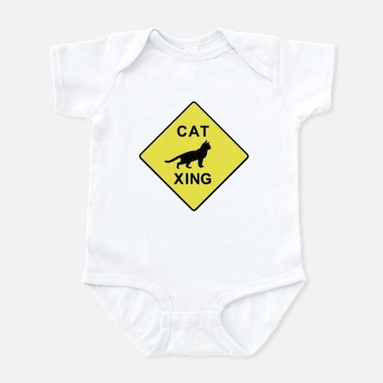 Cat Crossing Infant Bodysuit