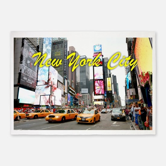 Times Square New York Pro Photo 5'x7'Area Rug