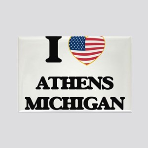 I love Athens Michigan Magnets