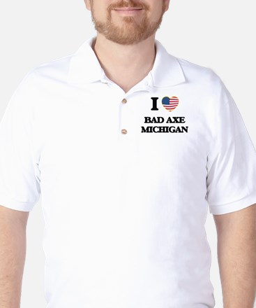 I love Bad Axe Michigan Golf Shirt