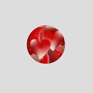 hearts aglow Mini Button