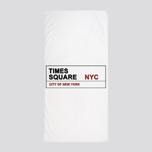 Times Square New York City Pro Photo Beach Towel