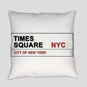 Times Square New York City Pro Pho Everyday Pillow