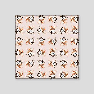 """PIRATE BEAR Square Sticker 3"""" x 3"""""""