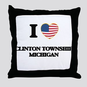 I love Clinton Township Michigan Throw Pillow