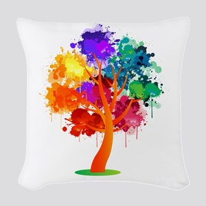 Different Not Less Woven Throw Pillow