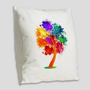 Different Not Less Burlap Throw Pillow