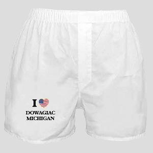 I love Dowagiac Michigan Boxer Shorts