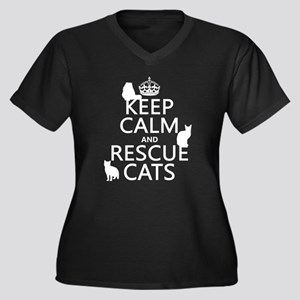 Keep Calm and Rescue Cats Plus Size T-Shirt