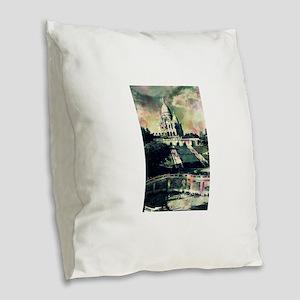 Sacré Coeur Funky Dots Burlap Throw Pillow