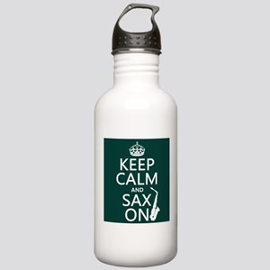 Keep Calm and Sax On Sports Water Bottle