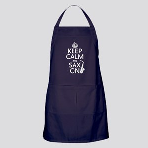 Keep Calm and Sax On Apron (dark)