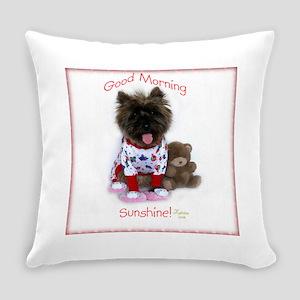 Cairn Terrier Good Morning Everyday Pillow
