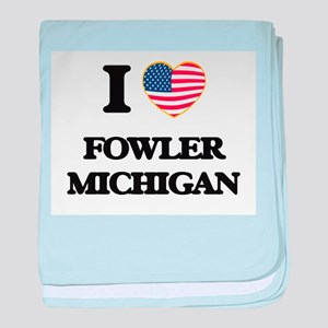 I love Fowler Michigan baby blanket