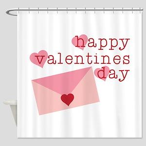 Happy Valentines Day Shower Curtain