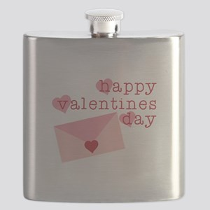 Happy Valentines Day Flask
