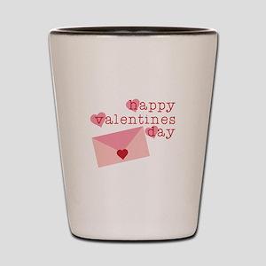 Happy Valentines Day Shot Glass