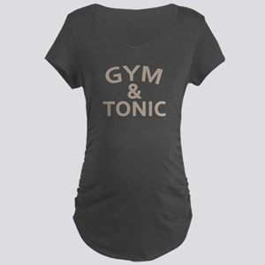 Gym and Tonic Maternity Dark T-Shirt