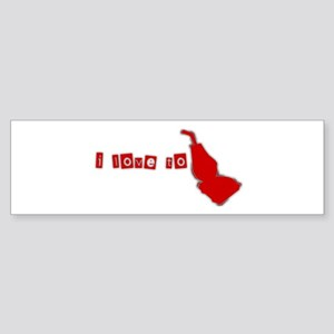 I Love to SUCK Red n Gray Bumper Sticker