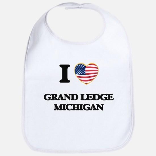 I love Grand Ledge Michigan Bib