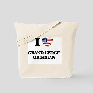 I love Grand Ledge Michigan Tote Bag