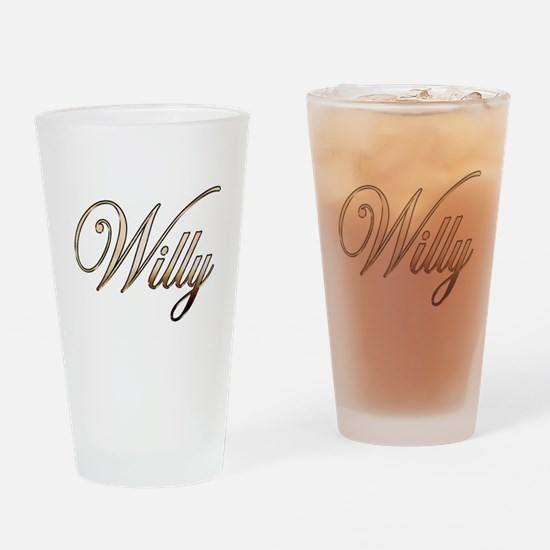 Gold Willy Drinking Glass