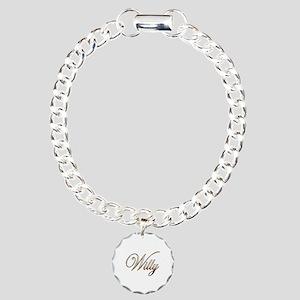 Gold Willy Charm Bracelet, One Charm