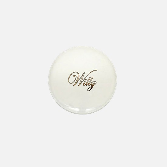 Gold Willy Mini Button