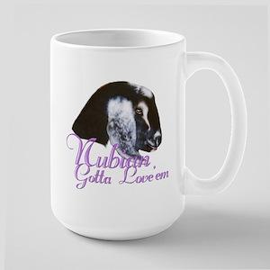 Nubian Goat Gotta Love 'em Large Mug
