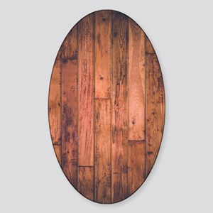 Old Wood Planks Sticker (Oval)