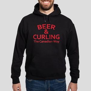 Beer and Curling Hoodie (dark)