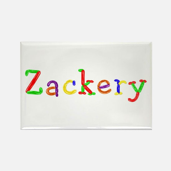 Zackery Balloons Rectangle Magnet