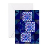 Blue Quilt Watercolor Greeting Cards (Pk of 20)