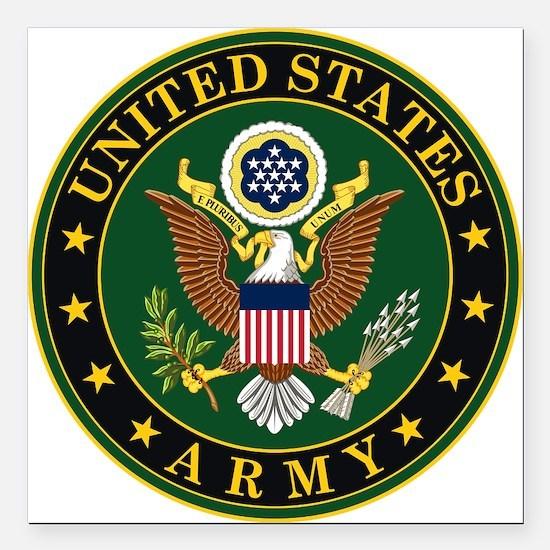 "U.S. Army: Army Symbol Square Car Magnet 3"" x 3"""