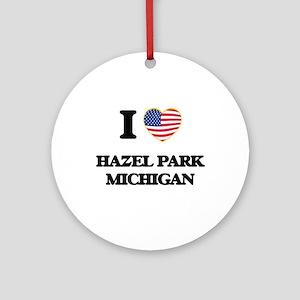 I love Hazel Park Michigan Ornament (Round)