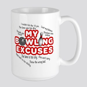 MY BOWLING EXCUSES Large Mug