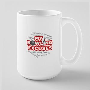 MY BOWLING EXCUSES Large Mug