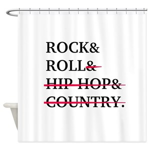 Rock N Roll Shower Curtains