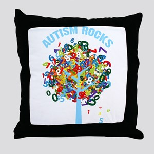 Autism Rocks Throw Pillow