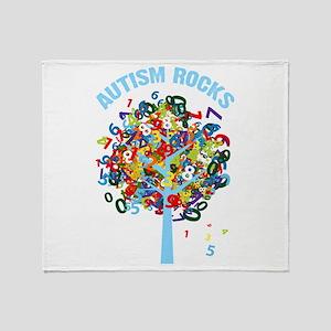 Autism Rocks Throw Blanket