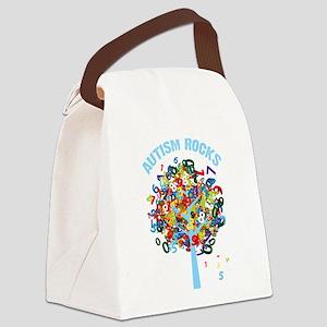 Autism Rocks Canvas Lunch Bag