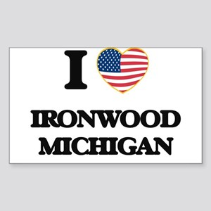 I love Ironwood Michigan Sticker