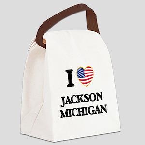 I love Jackson Michigan Canvas Lunch Bag