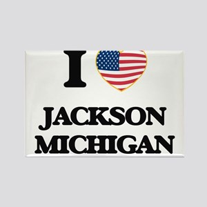 I love Jackson Michigan Magnets