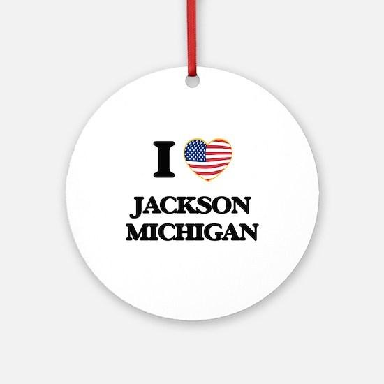 I love Jackson Michigan Ornament (Round)