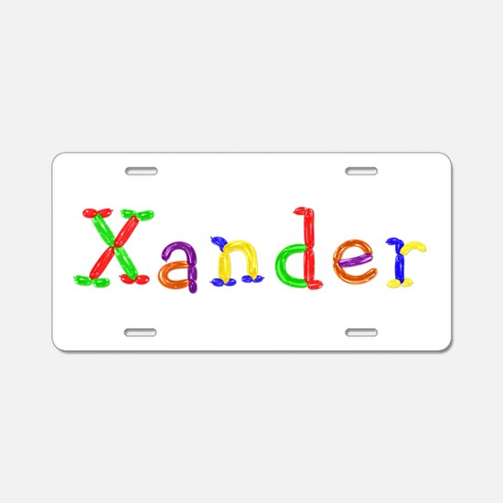 Xander Balloons Aluminum License Plate