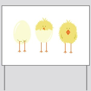 Hatched Chick Yard Sign