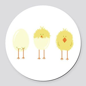 Hatched Chick Round Car Magnet