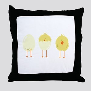 Hatched Chick Throw Pillow